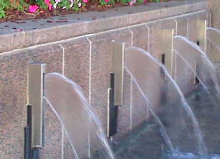 Detail of Streetfront Fountain at 201 North Tryon
