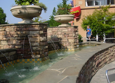 Fountain at Park Towne Village Shopping Center